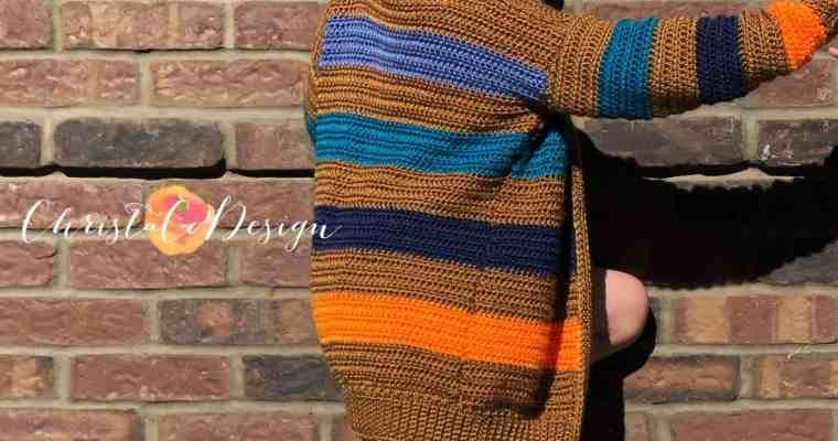 Bryce Canyon Striped Cardigan Free Crochet Pattern