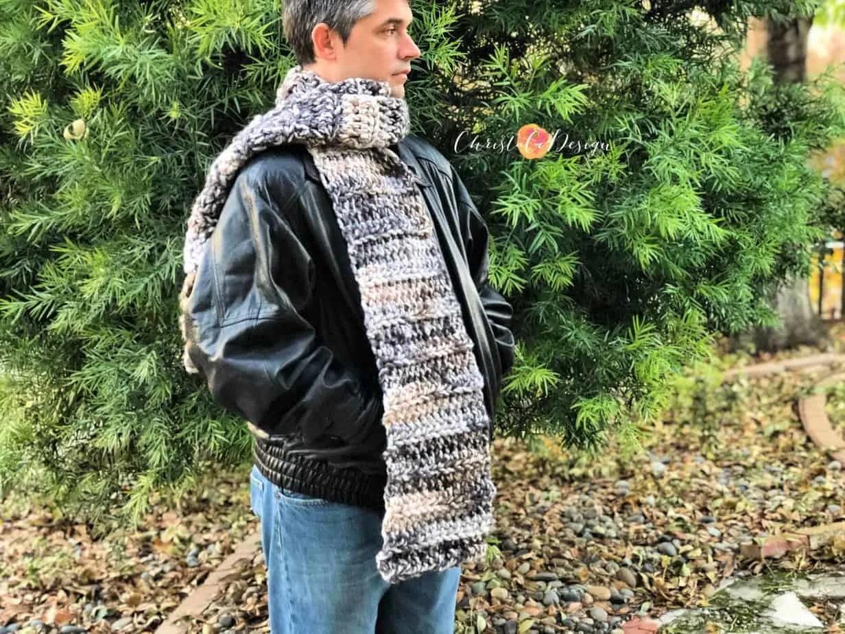 Tuono Scarf Free Crochet Pattern