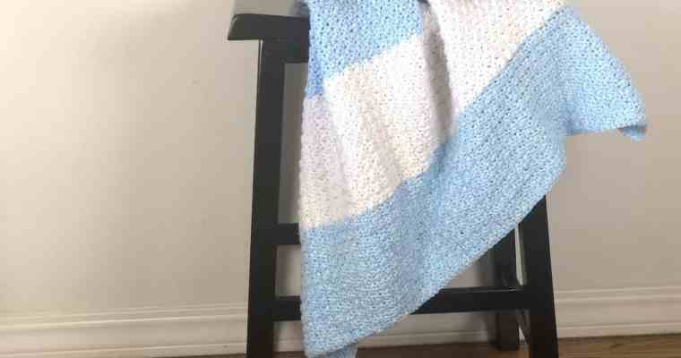 Modern Striped Baby Blanket A Free Crochet Pattern