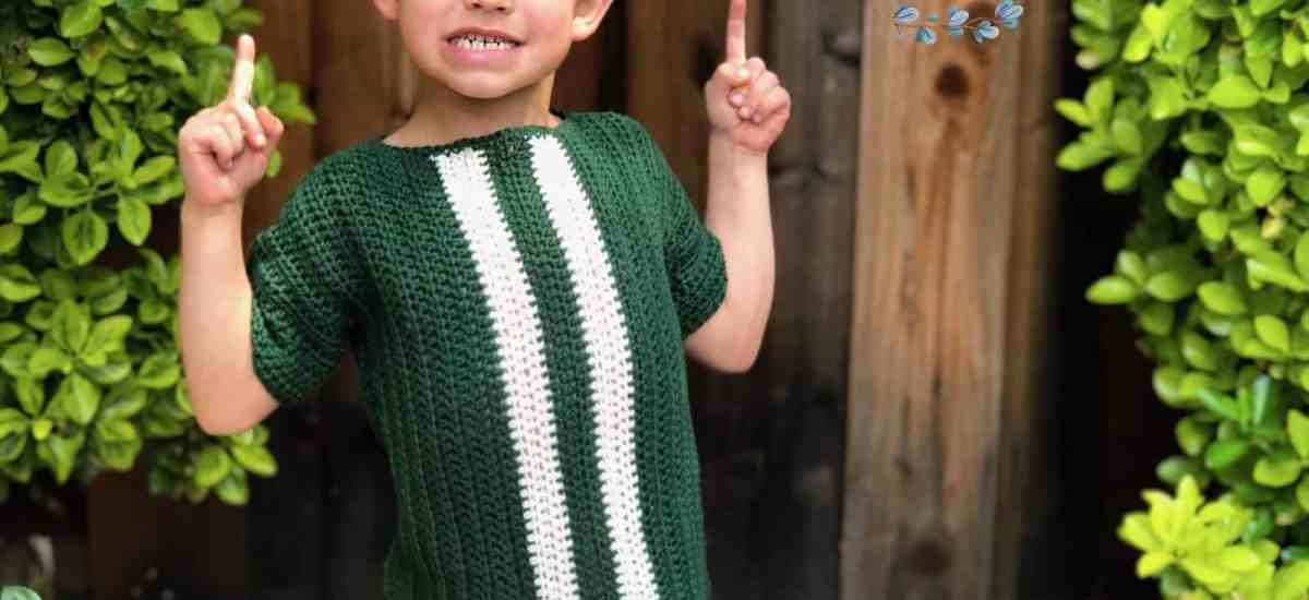 Kids' Racing Tee a Free Crochet Shirt Pattern