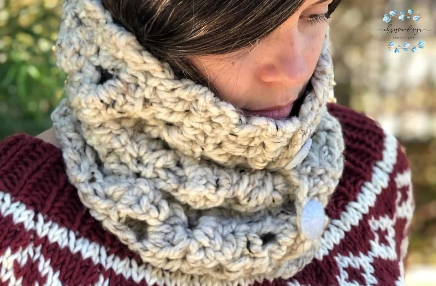 Arcone Cowl by Crystal @ Christa Co Design