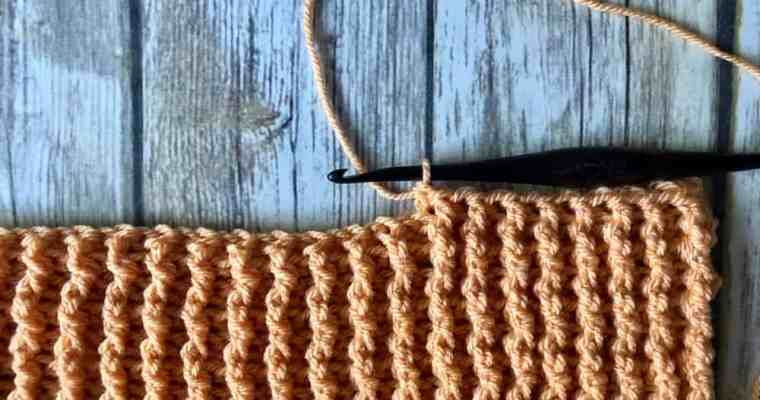 Crochet Ribbing with Front Post and Back Post Double Crochet Stitches
