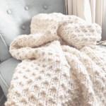 Bella Vita Easy Knit Blanket Beginner Knitting Pattern Christacodesign