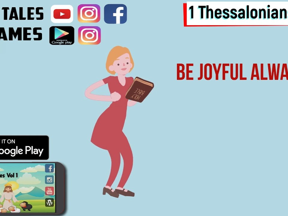 1 Thessalonians 5:16 Daily Bible Animated verses 23 November 2019