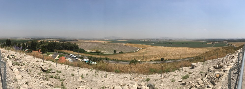 View of the Jezreel Valley from Tel Megiddo