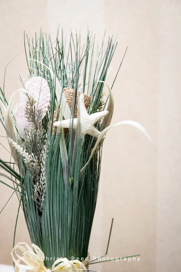 seashell and starfish reception decore
