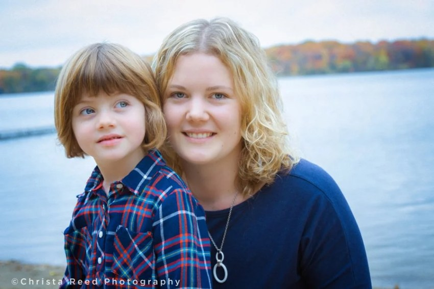 mother and daughter portraits at lake ann