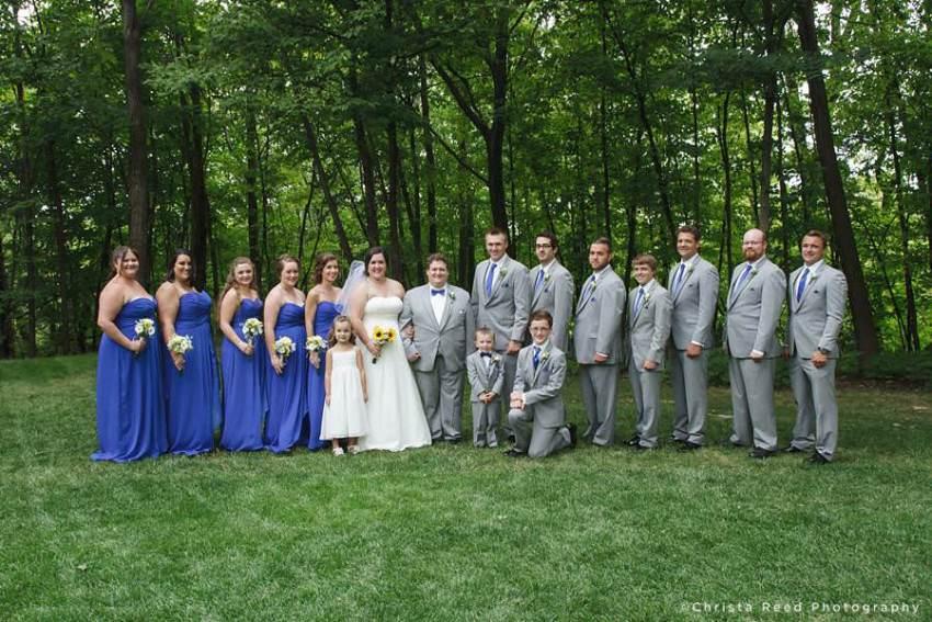 fourteen person wedding party