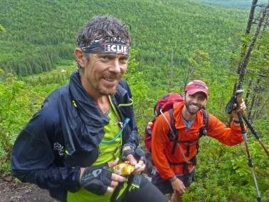 Scott Jurek and Chris Clemens in Maine