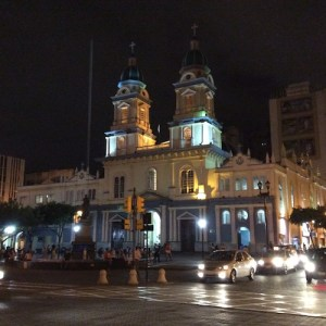 Guayaquil church at night