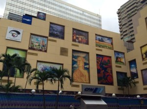 Artwork painted on building in Guayaquil, Ecuador.