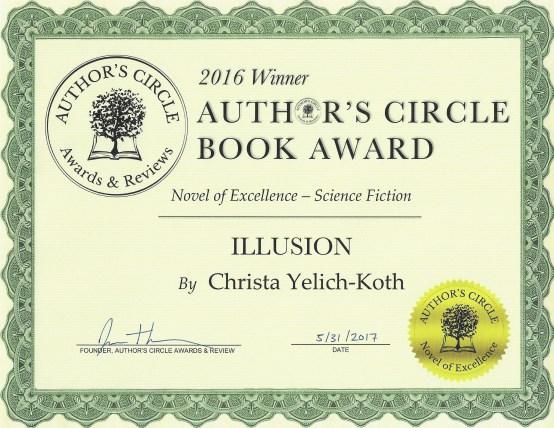 Award Certificate - Christa Yelich-Koth