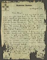 Letter to Hazel, 17 August 1914
