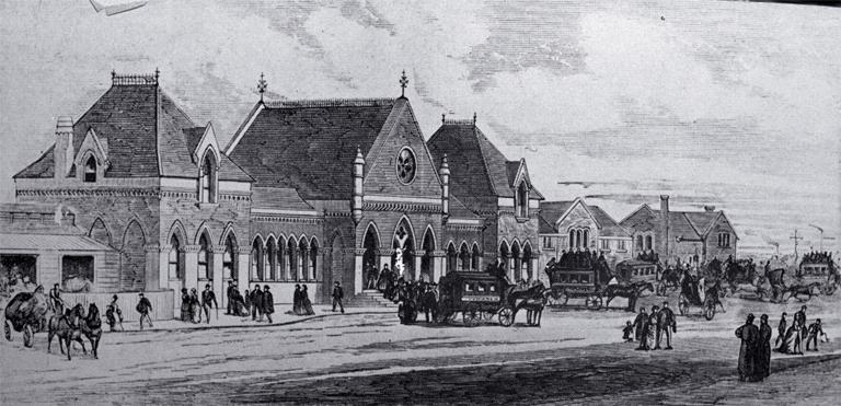 Christchurch railway station [1878]