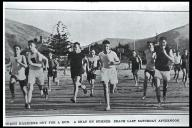 Christchurch harriers out for a run on Sumner beach (1927)