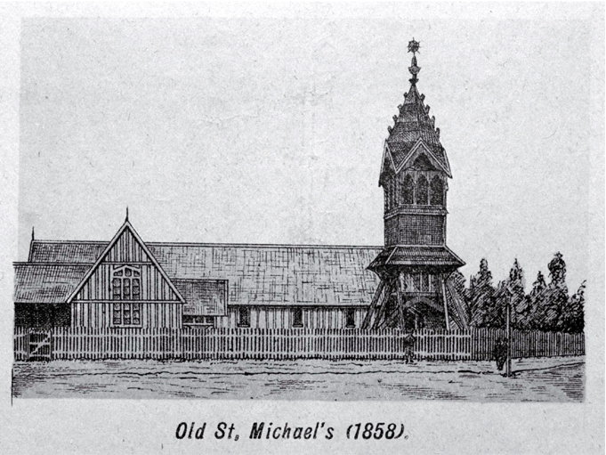 Old St. Michael's Church, corner of Oxford Terrace and Lichfield Street [ca. 1861]