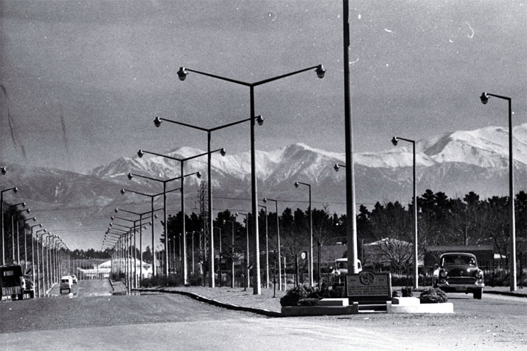 Photo of Memorial Avenue, Christchurch  [ca. 1959]