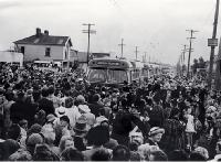 The first buses of the New Brighton run