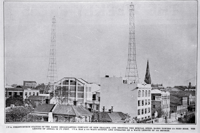 3YA Christchurch Station of the Radio Broadcasting Company of New Zealand [1927]