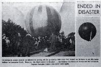 Captain Lorraine's balloon shown taking off from Lancaster Park, 3 Nov. 1899  [1899], CCL PhotoCD 7, IMG0084