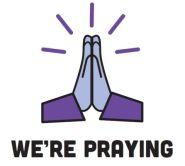 were praying