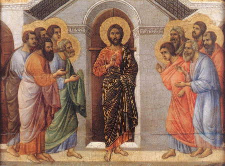 Duccio, Christ's appearance behind locked doors