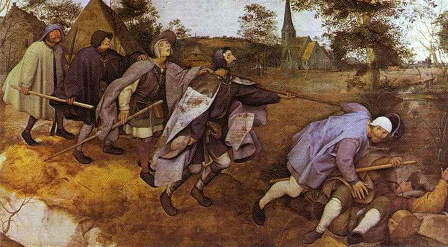 Bruegel, Parable of the blind leading the blind