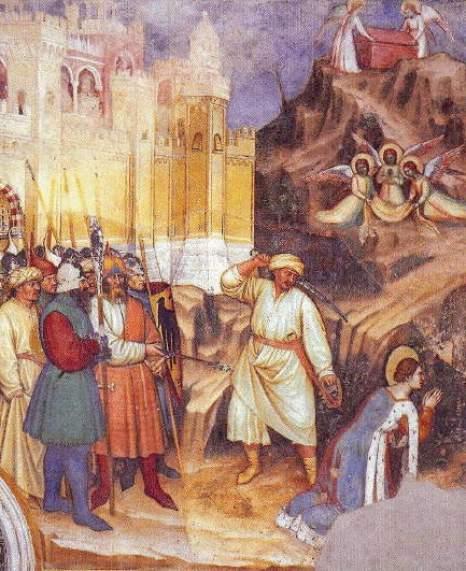 Altichiero, Beheading of St Catherine