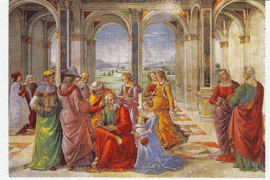 Ghirlandaio, St. Zacaharias Writes Down the Name of his Son