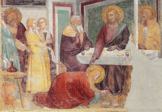 Gaddi, Magdalene Washing the Feet of Jesus