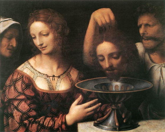 Luini, Salome Receiving the Head of St. John the Baptist