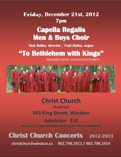 Capella Regalis Christmas Concert