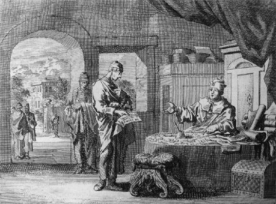 Luyken, Parable of the Unjust Steward