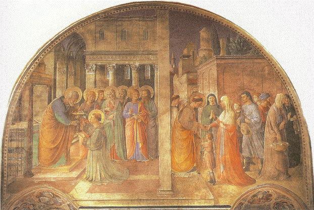 Fra Angelico, St. Stephen fresco 1