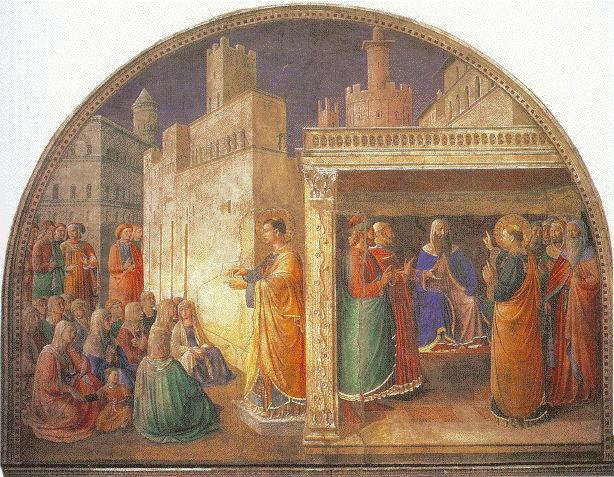 Fra Angelico, St. Stephen fresco 2