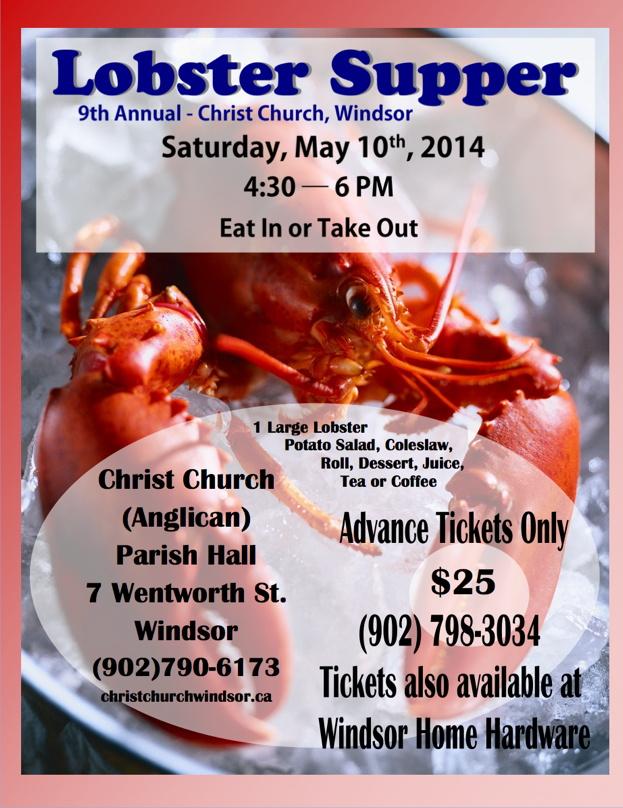 Lobster Supper 2014 poster
