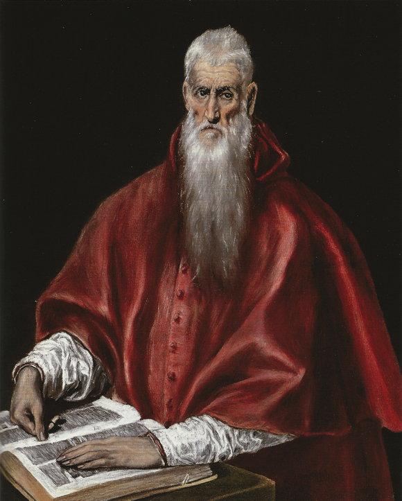 El Greco, St. Jerome as a Scholar (1610)