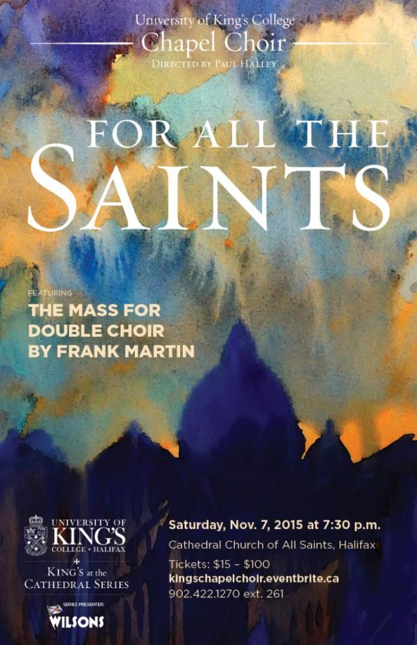 For All the Saints 2015 concert