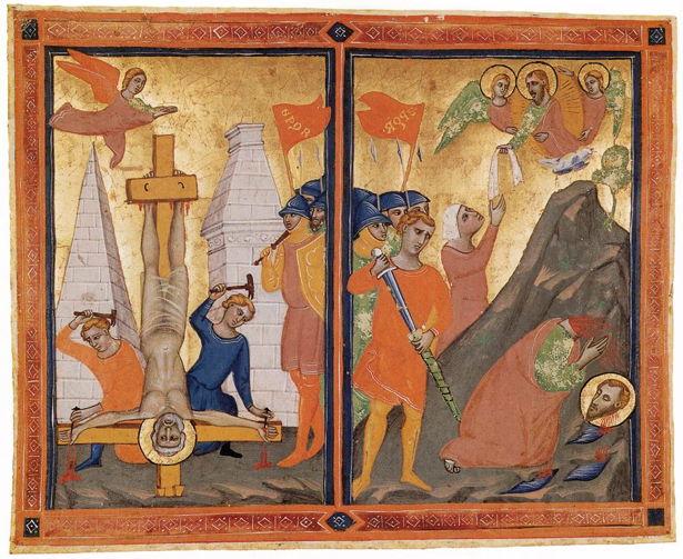 Pacino di Bonaguida, Martyrdoms of Saints Peter and Paul