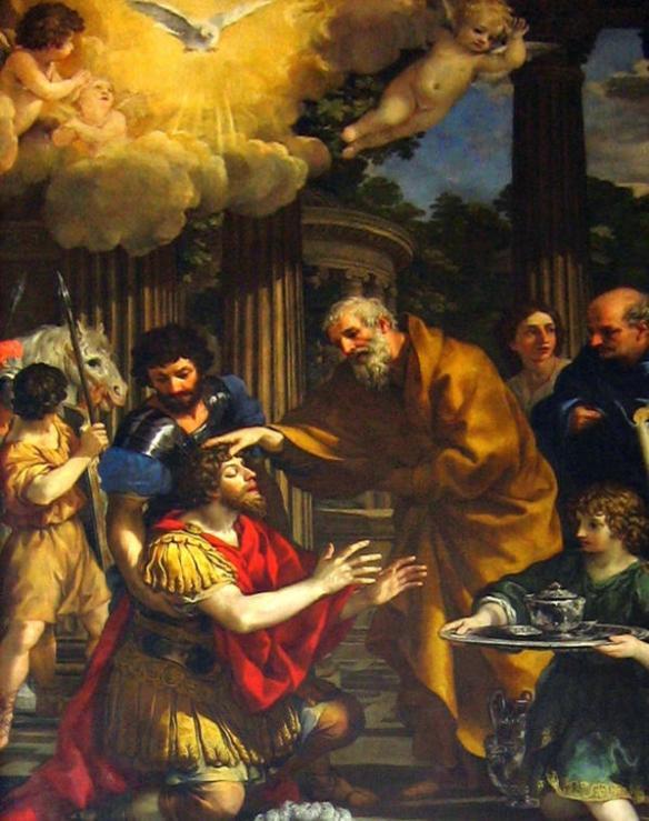 Pietro da Cortona, Ananias Restoring Sight of St. Paul