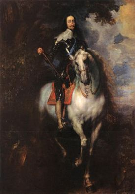 van Dyck, Equestrian Portrait of Charles I, King of England