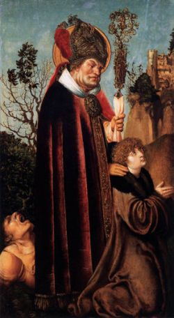 Lucas Cranach the Elder, St. Valentine with a Donor