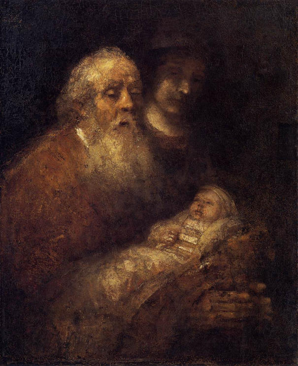 Rembrandt, Simeon's Song of Praise, 1669