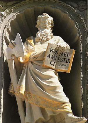 St. Matthias Abbey, statue of St. Matthias