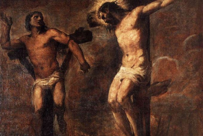 Titian, Christ and the Good Thief
