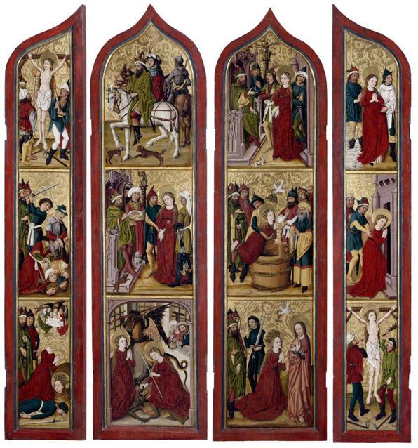 Master of the Coburg Roundels, Altarpiece of St. Margaret