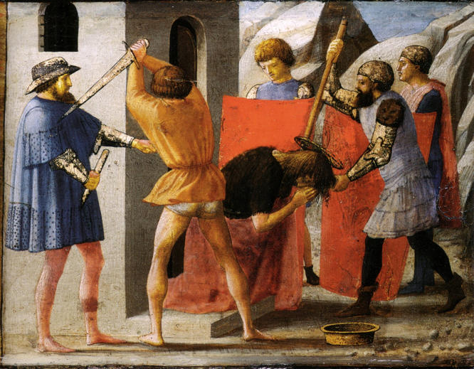 Masaccio, Martyrdom of St. John the Baptist