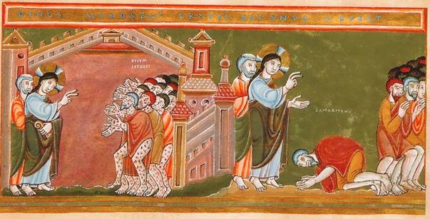 Codex Aureus Epternacensis, Cleansing of the Ten Lepers