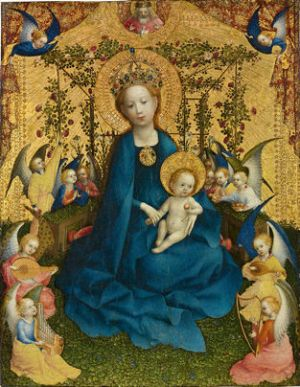 Lochner, Madonna of the Rose Garden
