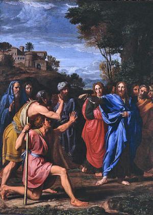 Nicolas Colombel, Christ Healing the Blind